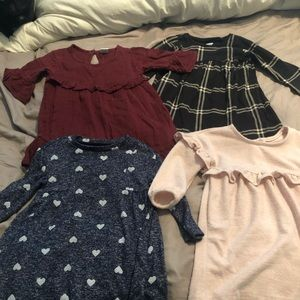 2 OldNavy 6-12M dresses & 2 BabyGap 12-18M dresses